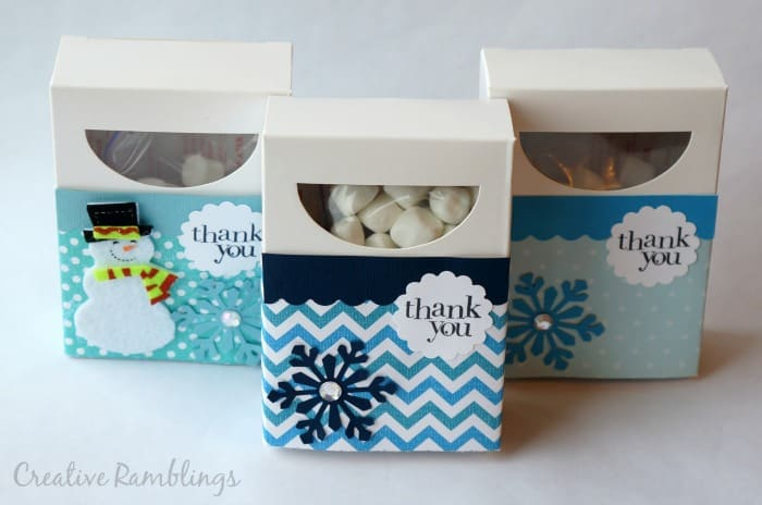 Winter birthday hot cocoa party favors