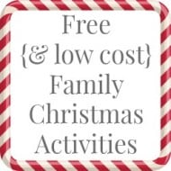 Free or Low Cost Family Christmas Activities