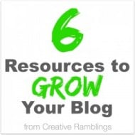 6 Resources to Grow Your Blog