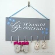 Creative Way to Dry Winter Mittens