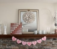 Paper Heart Valentine Art and Mantle