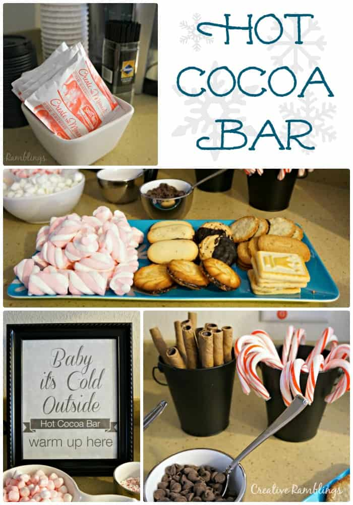 Winter Party Hot Cocoa bar