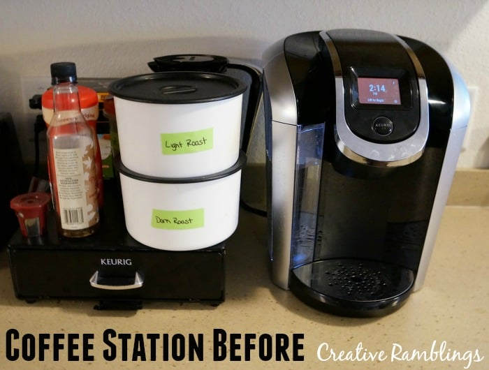 coffee station before