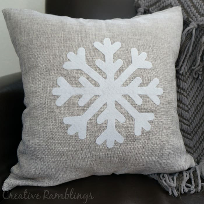 no sew winter pillow square