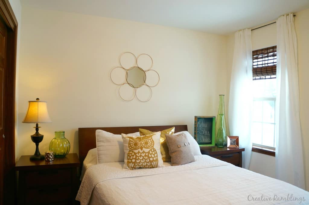 Guest-room-update-metallic-pillow