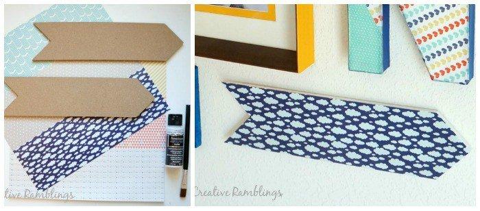 arrows-washi-tape-playroom wall