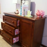 Colorful Lined Dresser Drawers