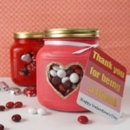 Friendly Valentine Candy Jar
