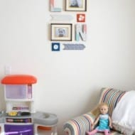 Colorful Playroom Gallery Wall