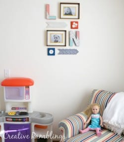 Colorful Playroom Gallery Wall