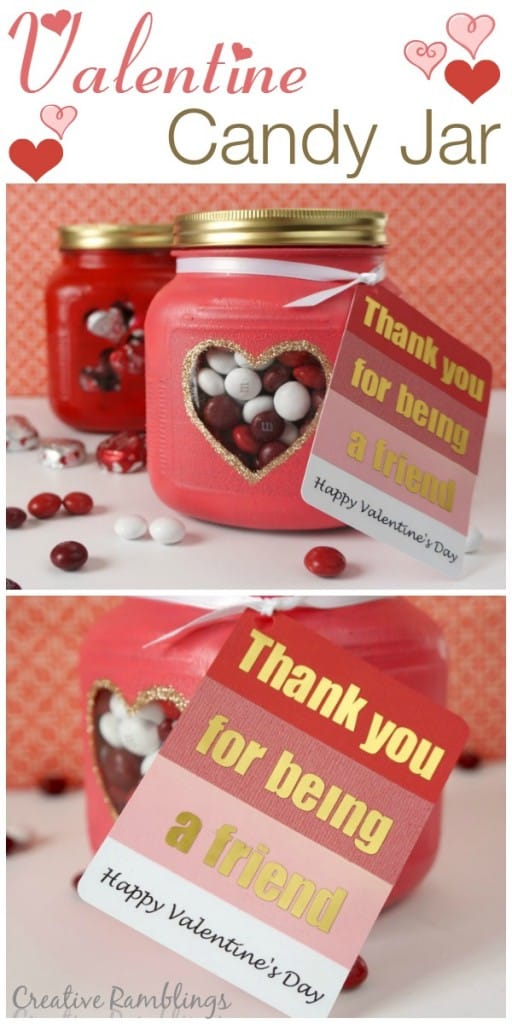 Friendly Valentine Candy Jar Creative Ramblings