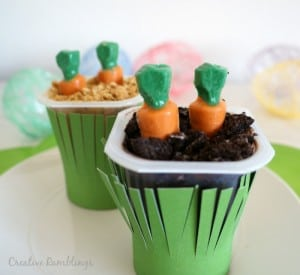 Easter Carrot Garden Pudding Cups