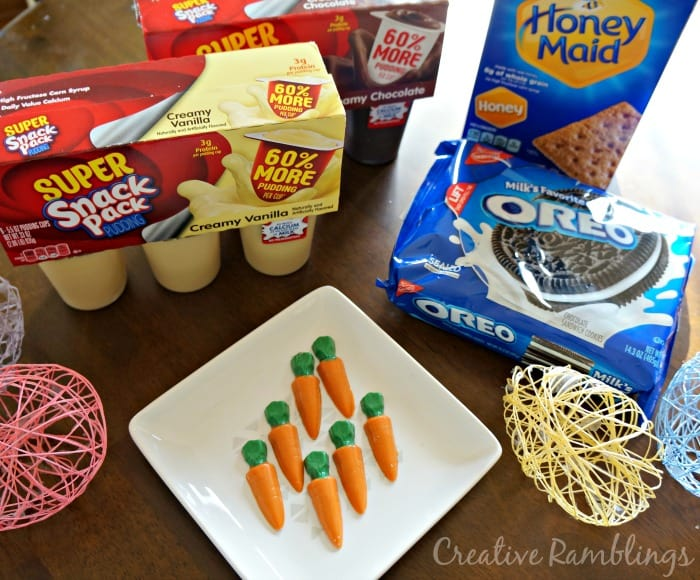 Easter Carrot Garden Pudding Cups Supplies