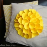 Felt Petal No-Sew Flower Pillow