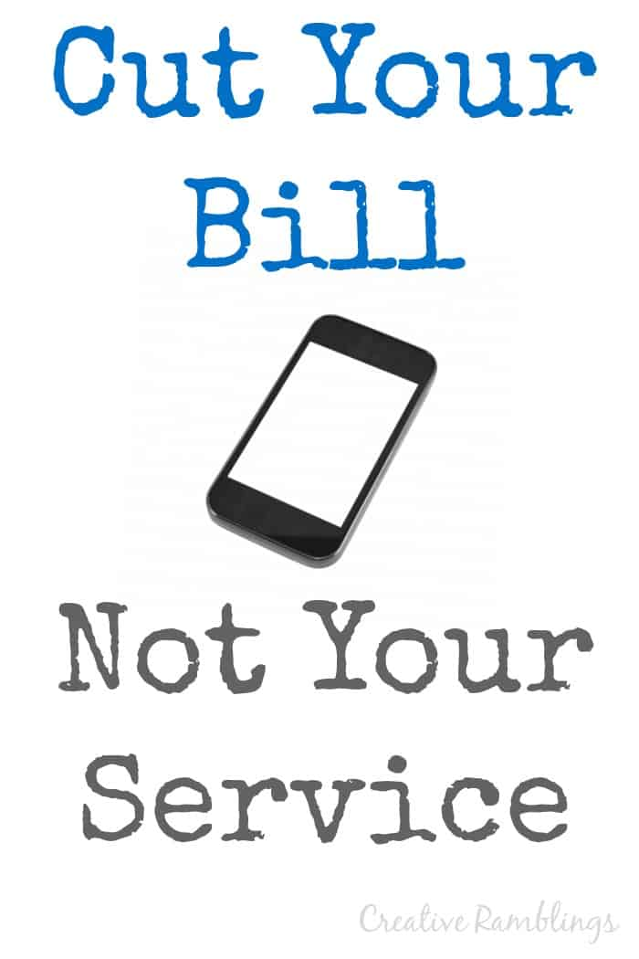 Cut your cell phone bill not your service.  3 plans that provide great service and half the price.