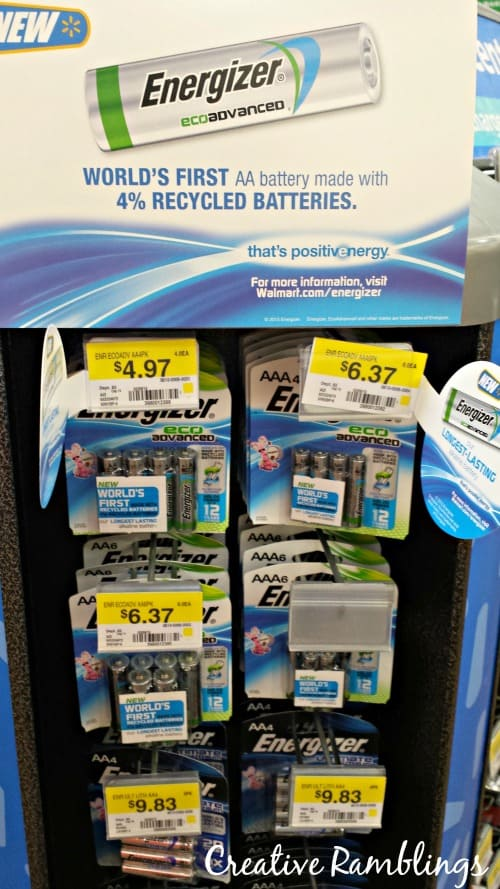 Energizer EcoAdvanced Batteries at Walmart #BringingInnovation #Ad
