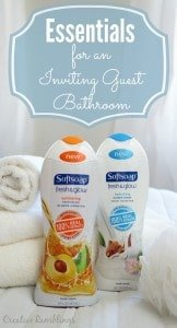 Essentials for an inviting guest bathroom. Simple things your can do to make your guests feel welcome. #FreshAndGlow #Ad