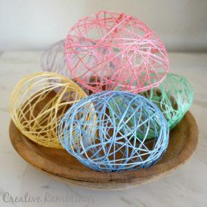 String Easter Eggs using Mod Podge.