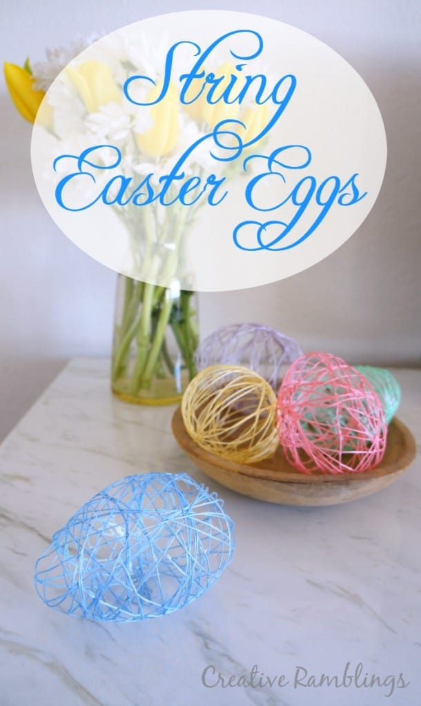 String Easter Eggs using Mod Podge