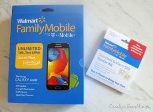 Switch and Save with Walmart Family Mobile. Samsung Galaxy Avant phone and starter kit. #MarchIntoSavings #Ad