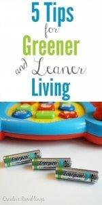 5 tips for greener and leaner living #BringingInnovation #Ad