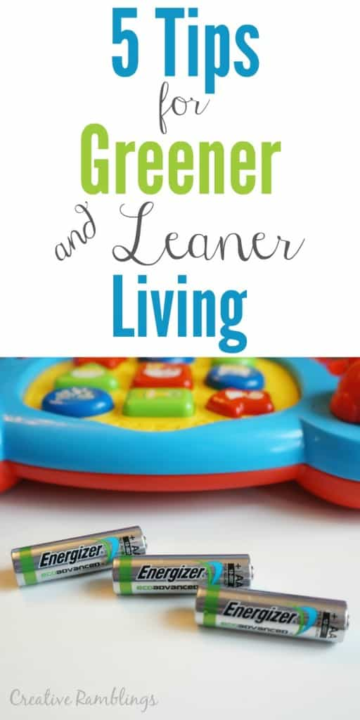 5 tips for greener and leaner living #BringingInnovation #Ad