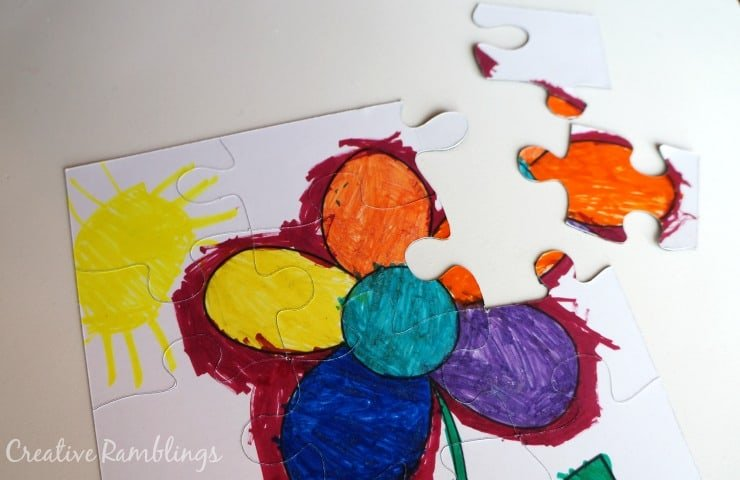 Coloring Page Puzzle with a Silhouette