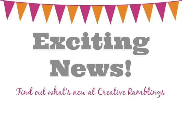 Exciting News from Creative Ramblings