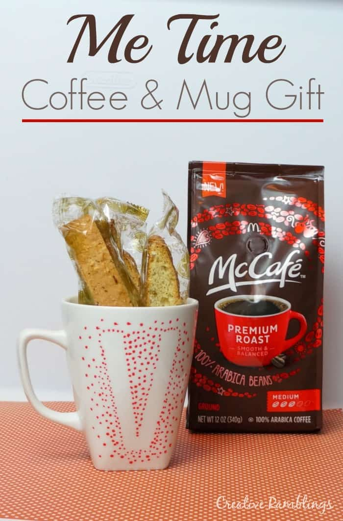 A coffee and monogram mug gift. #McCafeMyWay #Ad