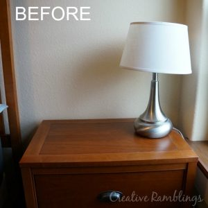 nightstand before makeover