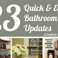 23 Quick and Easy Bathroom Updates