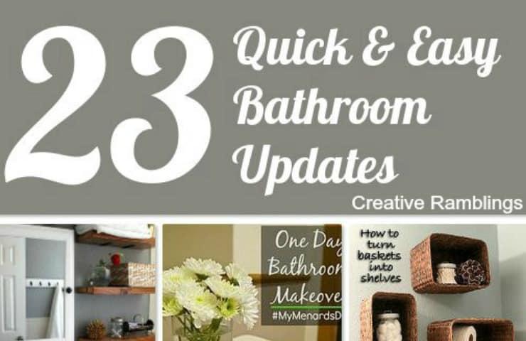 Quick And Easy Bathroom Updates Creative Ramblings - Easy bathroom updates