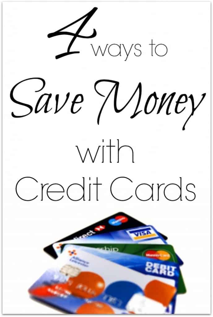 4 ways to save money with credit cards.  Use credit responsibly and reap the rewards.  These are easy  tips anyone can use.