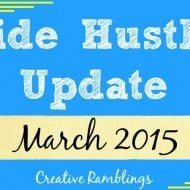 Side Hustle Update March 2015