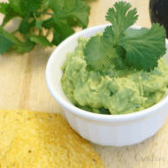 Simple Fresh Guacamole from the Garden