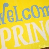 Spring Stenciled Canvas