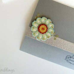 Tri fold wedding card