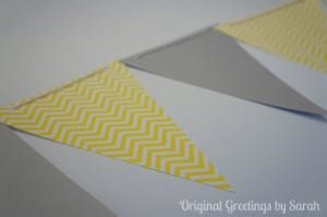 Gray and Yellow chevron banner
