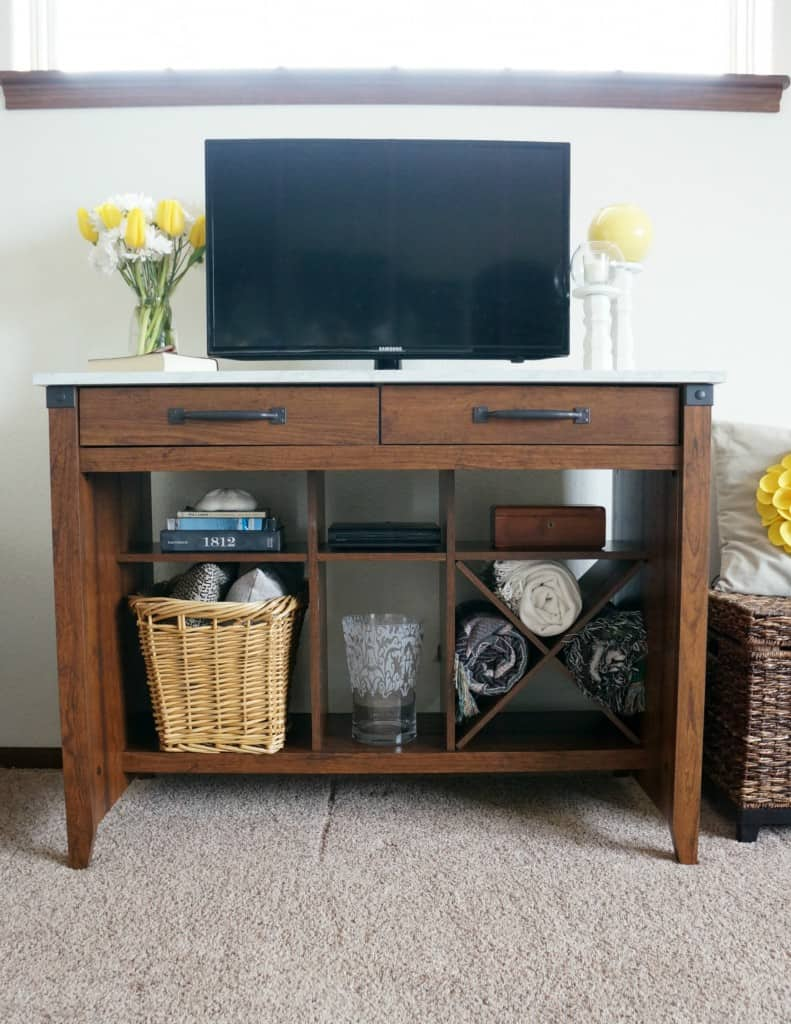 A simple affordable entertainment center from Sauder. #PutTogether
