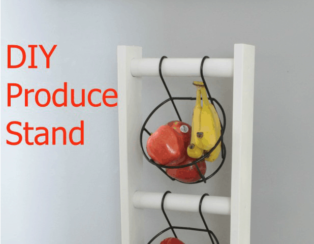 DIY Wood Produce Stand