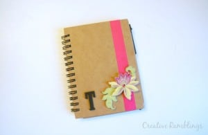 personalized notebook, makes a great teacher gift.