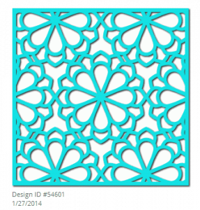 Silhouette flower lattice design