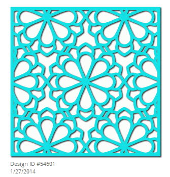 Silhouette flower lattice design