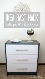 Modern and easy to do Ikea Rast Hack with new hardware and paint. #MyMenardsDIY #HickoryHardware