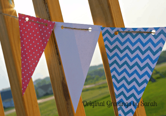 Red white and blue easy patriotic paper banner