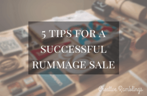 5 tips for a successful and organized rummage sale