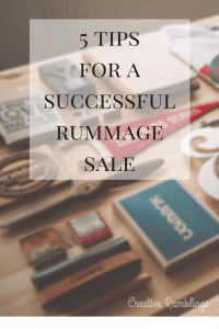 5 tips for a successful and organized rummage sale. Garage sale tips on pricing, prepping, and organizing.