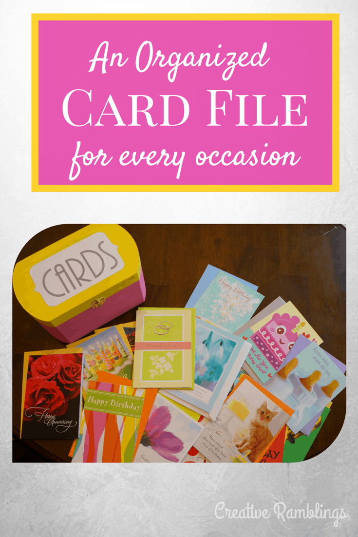 An organized card file for all occasions.  Organize your birthday cards.  #SendSmiles #ad