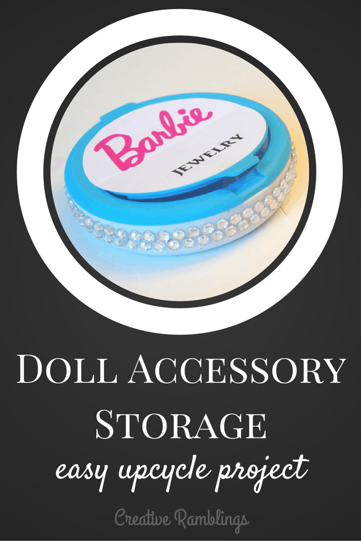 Cute storage idea for all those tiny doll accessories.  An upcycled mint container.
