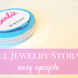 Doll jewelry storage, upcycle a mint container